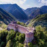 83200169 - fortress poenari. aerial view